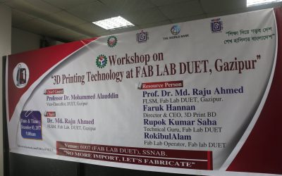 Workshop on 3D Printing Technology has been organized by FAB LAB DUET